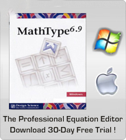 The Professional Equation Editor